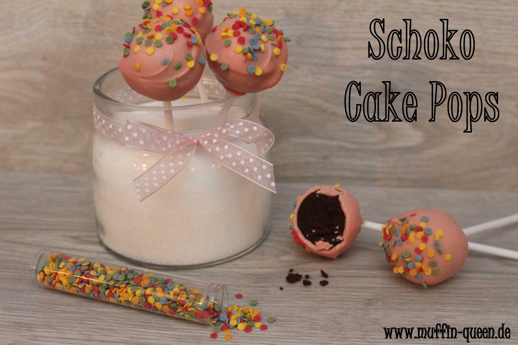 schoko cake pops einfach lecker muffin queen. Black Bedroom Furniture Sets. Home Design Ideas